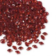 Premium Wedding table decorations 6 mm Red  Diamantes